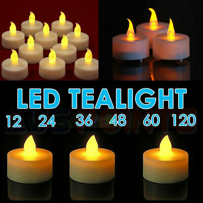 Candles Tealight Led Tea Light Flameless Flickering Wedding Battery Included