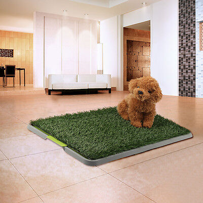 Large Indoor Pet Dog Puppy Toilet Grass Restroom Potty Training Mat Loo Pad Tray