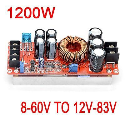 1200W 20A DC Converter Boost Step Up Power Supply Module IN 8-60V OUT 12-83V