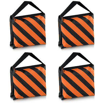 Neewer 4 Sandbag Nero/Arancione Funziona come Contrappeso per Light Stand