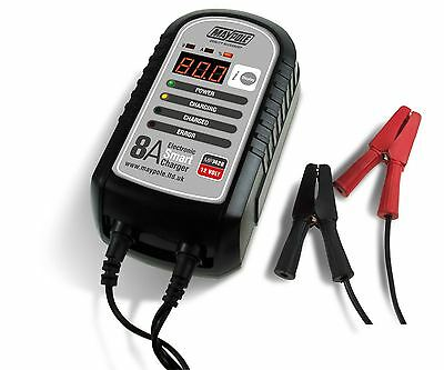 Maypole Optimiser 8A Caravan Leisure Motorhome Electronic Smart Battery Charger