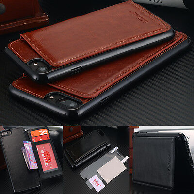 iPhone 7 Case / 7 Plus,Flip Leather Wallet Card Shockproof Cover Stand For Apple