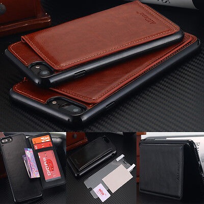 iPhone X Case / 8 7 Plus,Flip Leather Wallet Card Shockproof Cover Stand F Apple