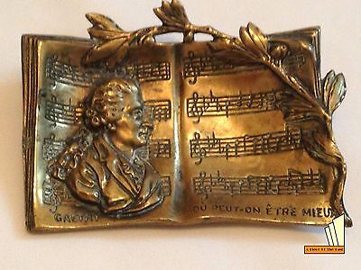 Rare French Antique Brass Gretry Ornament With Patent France Composer