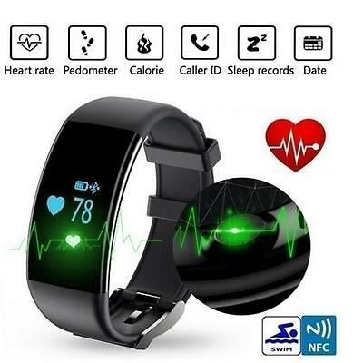 Cool Bluetooth Fitness Smart Watch Wristband Heart Rate Tracker For IOS Android