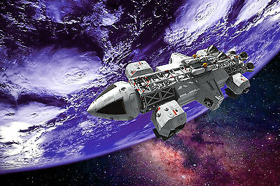 Space 1999 Sci Fi Planet Spaceship WALL ART CANVAS FRAMED OR POSTER PRINT