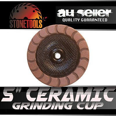 """5"""" 125mm Ceramic Diamond Grinding and Polishing Cup Wheel Disc for Concrete"""