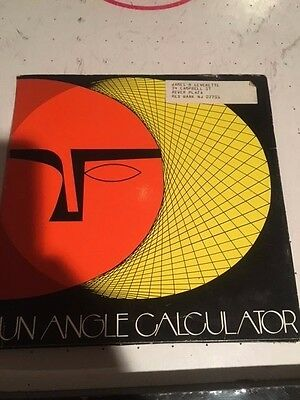 VINTAGE SUN ANGLE CALCULATOR by LIBBEY-OWENS-FORD-COMPANY