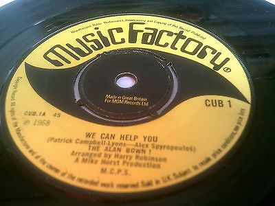 The Alan Bown ! We Can Help You Rare 1968 1st UK A-1 B-1 Music Factory CUB 1