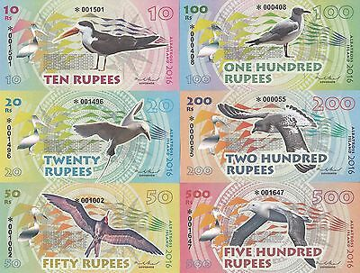 Albatross Island Set 6 banknotes in 2016 UNC (private issue)