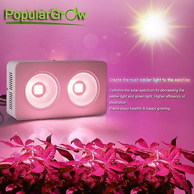Full spectrum 400W COB led grow lights for indoor greenhouse plants growth bloom