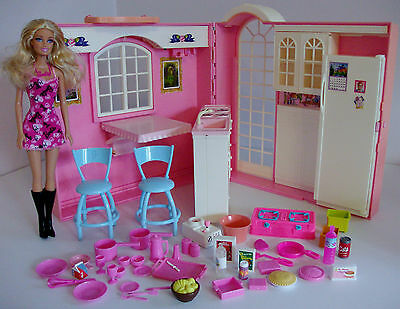 Barbie Kitchen Playset with Doll & Loads of Accessories
