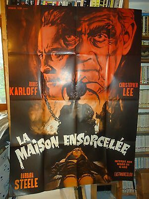 BORIS KARLOFF+CHRISTOPHER LEE/curse of the crimson altar// french poster
