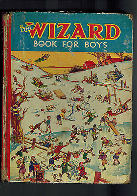 WIZARD BOOK FOR BOYS 1938 from Wizard Comic - D. C. Thomson