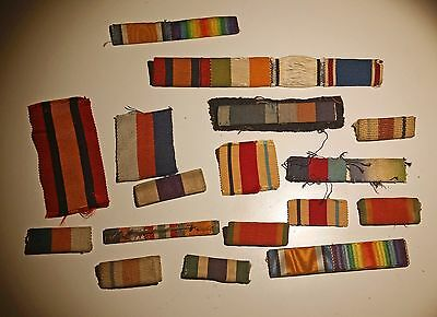 Lot of 14 Great Britain & South Africa Ribbon Bars