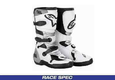 Alpinestars Youth Motocross MX Boots Tech 6s White/Silver All Sizes