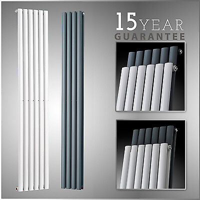Radiator Tall Upright Towel Warmer Vertical Design Oval Column Central Heating