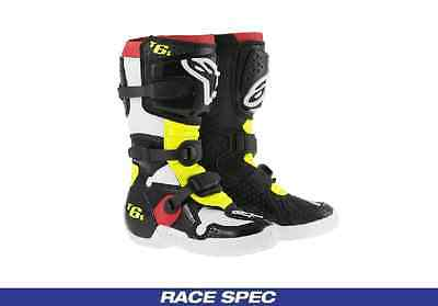 Alpinestars Youth Motocross MX Boots Tech 6s Red/Black/Flo Yellow All Sizes