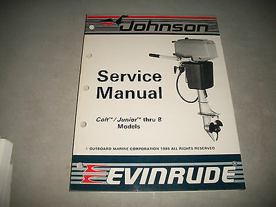 Official 1987 Johnson Evinrude 2.5-8 Outboard Service Shop Manual P/n # 507614