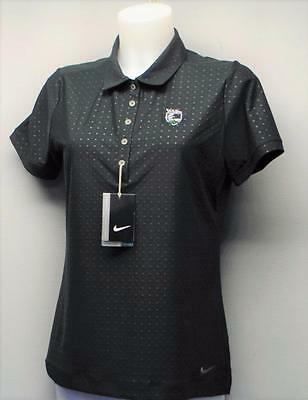 New Ladies Nike Golf Embossed polo shirt Medium Polyester Spandex Wildfire