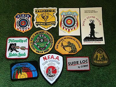 Bowhunter Archery Bowhunting Mixed Nfaa 8 Patch & 3 Decal Lot