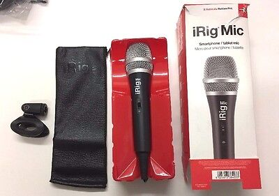 iRig Mic Handheld Microphone for Audio and Vocal Recordings Compatible with iPho