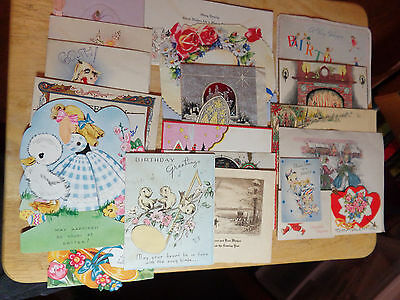 Vintage Christmas,easter,birthday Cards. Lot Of 22