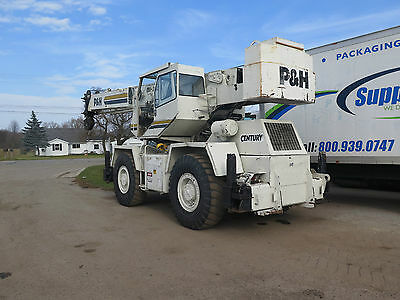1990 P&H 22 Ton Rough Terrain Century Crane 114' with Jib