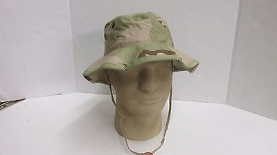 Us Military Issue Three Color Desert Boonie Hat Sun Hot Weather Size 7 1/8
