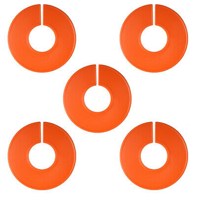 5 NEW Blank Orange Plastic Clothing Size Dividers Ring Closet Divider