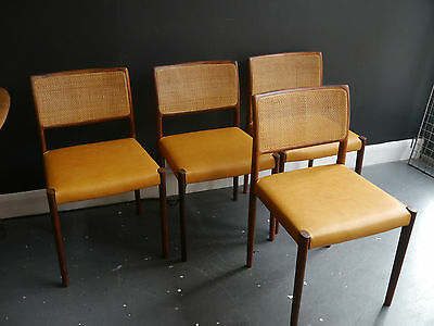 A set of four 1960s vintage Danish rosewood dining chairs