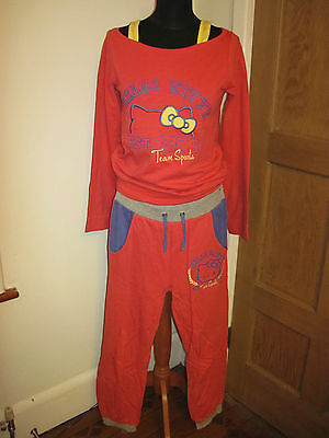 HELLO KITTY sports outfit suit XL AGE 13 YEAR or ladies 10 SANRIO kawaii RED NEW