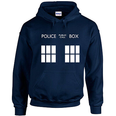 TARDIS Kid's Hoodie Sweatshirt | 3-13 | Doctor Who Inspired Fan Design