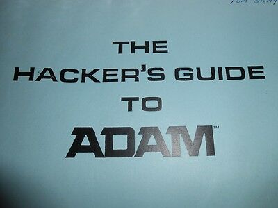 Hacker's Guide to ADAM BOOK AND TAPE *RARE*! Vintage Coleco Adam