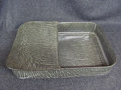 Vintage ENAMELWARE Rectangle Bed Pan Grey (AB637)