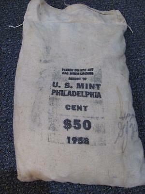1958 MINT Sewn Bag of Lincoln WHEAT Cents.