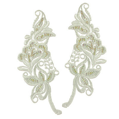 Embroidered Flower Lace Pair Appliques 2487-Z