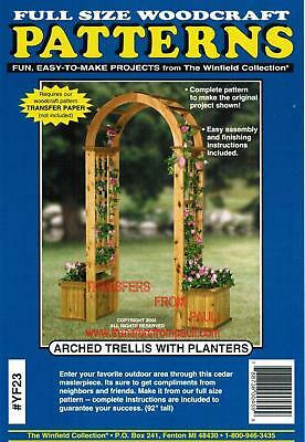 Arched Trellis with Planters Woodworking Plans - The Winfield Collection