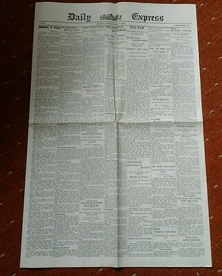 Replica Of First Daily Express Newspaper April 24Th 1900.