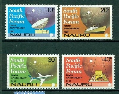 Nauru Scott #240-243 MNH South Pacific Forum Globe Airplanes Ships $$
