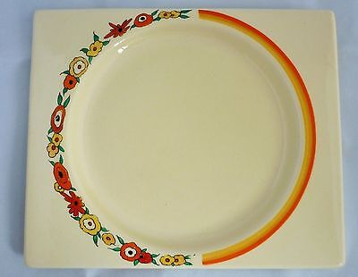 CLARICE CLIFF ORANGE WREATH BIZARRE BIARRITZ PLATE 1933 (Signed)