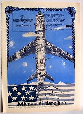 JEFFERSON AIRPLANE 1971 Poster Ad THE WORST OF airplane tree