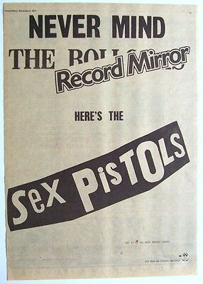 SEX PISTOLS 1977 Poster Ad NEVER MIND THE BOLLOCKS HERE'S THE SEX PISTOLS