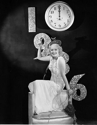 Alice Faye Holidays  Happy New Year 8X10 Photo
