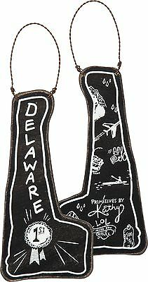 DELAWARE Primitives by Kathy State Series Christmas Ornament