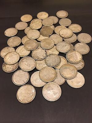 Canada Lot of 50 Silver Dimes 80 Percent Silver. Mixed dates