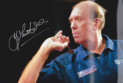 Darts - John Lowe signed 12x8 photograph with COA