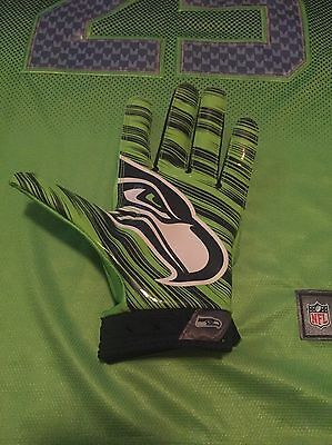 Brandon Williams Seattle Seahawks NFL Game Used Glove Color Rush