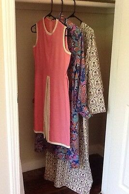 Vintage Clothing Dress Lot - 50s 60s Maxi Mod Psychedelic - Resale VTG