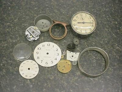 2 lbs Watchmaker Cuckoo Alarm Mantel Clock Gears Cases Dials Steam Punk E573
